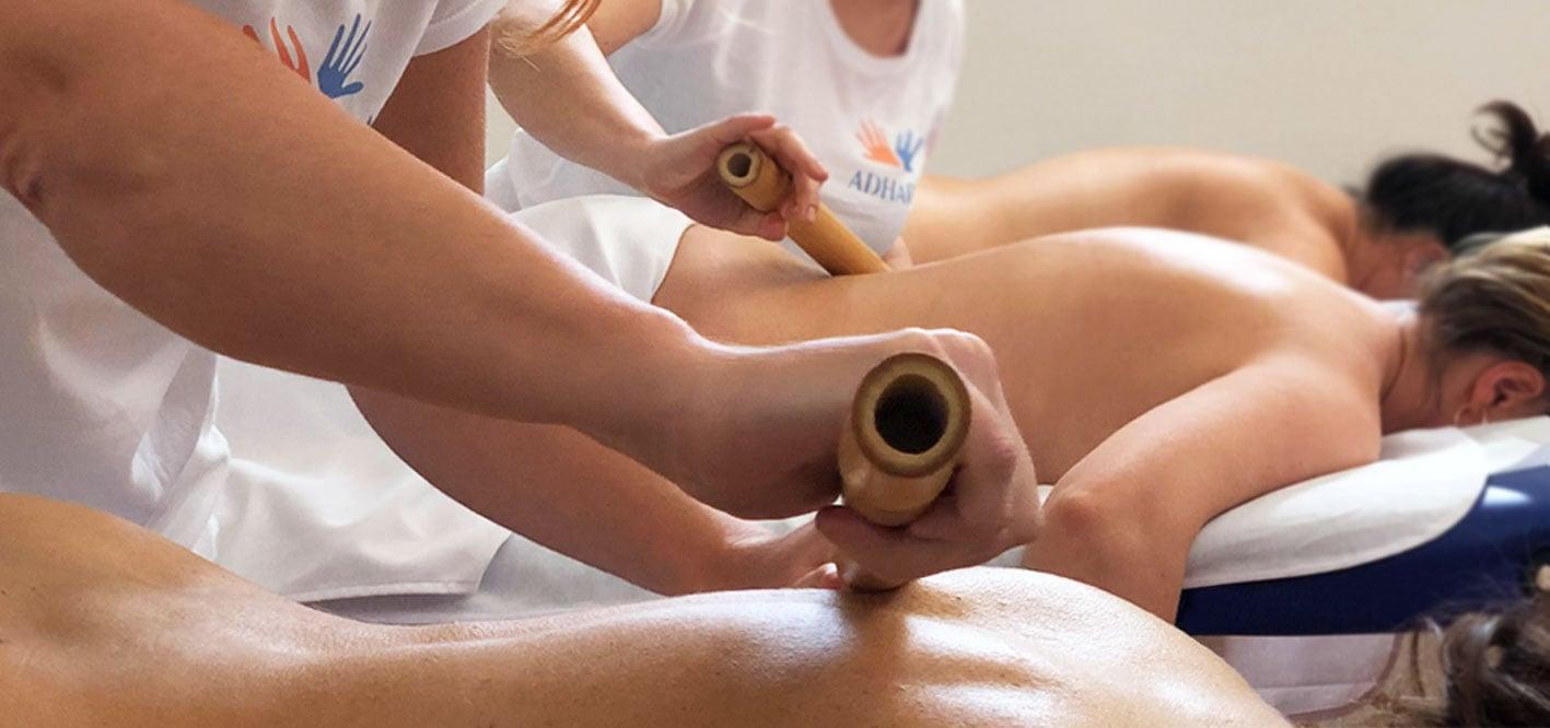 Corso massaggio bamboo massage scuola massaggi Adhara