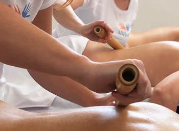 Adhara scuola massaggi corso massaggio bamboo massage